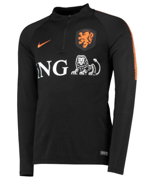 NIKE オランダ 2018/19 Squad ドリル トップ Black 1