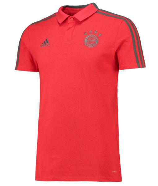 adidas バイエルン ミュンヘン 2018/19 トレーニング ポロシャツ Red 1