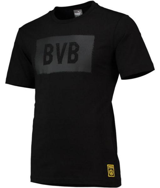 PUMA ドルトムント 2018/19 ステンシル Tシャツ Black 1