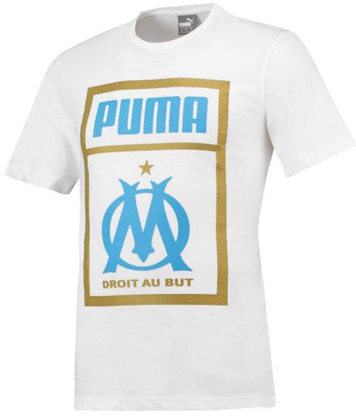 PUMA マルセイユ 2018/19 プリント Tシャツ White 1