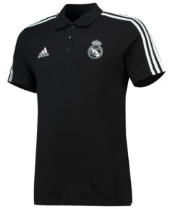 adidas レアルマドリード 2018/19 3ストライプ ポロシャツ Black