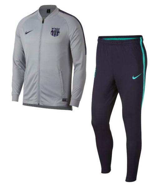 NIKE FCバルセロナ 2018/19 Squad ニット トレーニングスーツ Grey 1