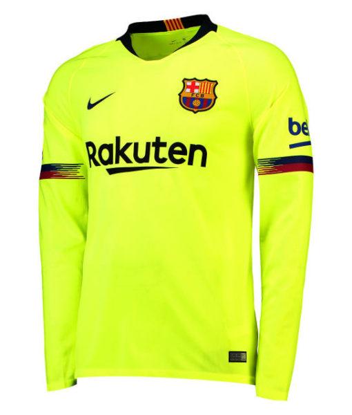 NIKE FCバルセロナ 2018/19 アウェイ スタジアム シャツ 長袖 1