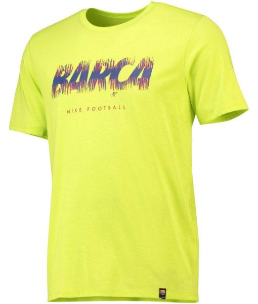 NIKE FCバルセロナ 2018/19 プレシーズン Tシャツ Yellow 1