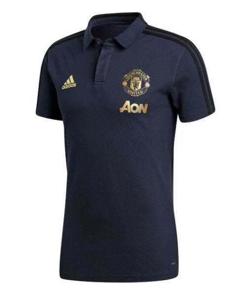 adidas マンチェスターユナイテッド 2018/19 UEFA CL トレーニング ポロシャツ Navy 1