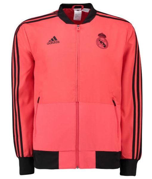 adidas レアルマドリード 2018/19 UEFA CL トレーニング プレゼンテーション ジャケット Red