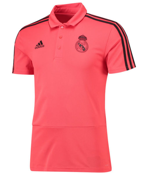 adidas レアルマドリード 2018/19 UEFA CL トレーニング ポロシャツ Red 1