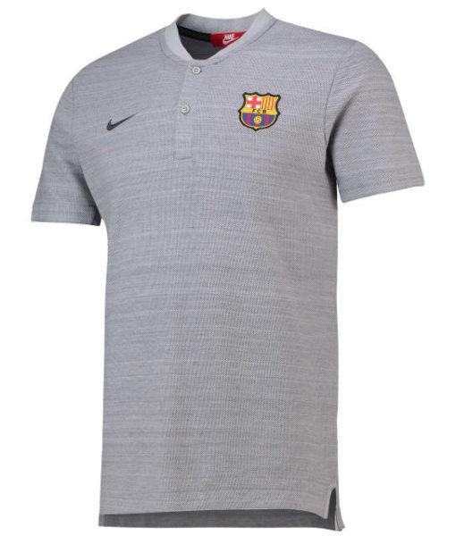 NIKE FCバルセロナ 2018/19 オーセンティック グランドスラム ポロシャツ Grey 1