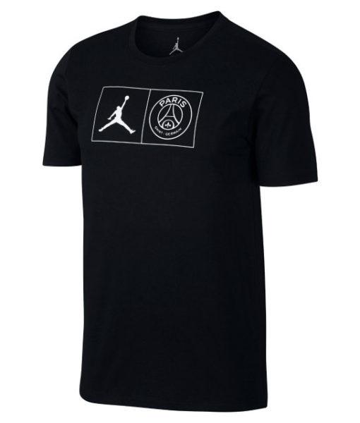 NIKE パリ サンジェルマン x ジョーダン 2018/19 TシャツBlack 1
