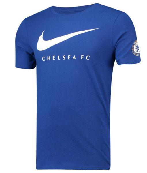 NIKE チェルシー 2018/19 スウッシュ Tシャツ Blue 1