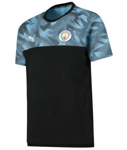 PUMA マンチェスターシティ 2019/20 カジュアル Tシャツ Black 1