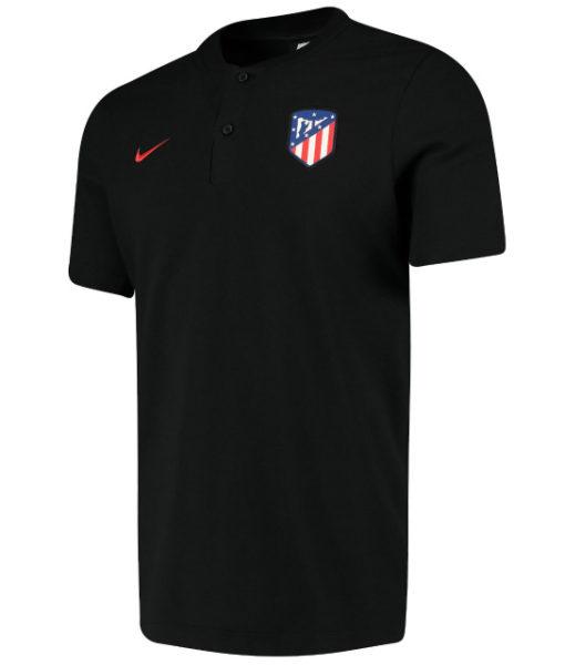 NIKE アトレティコマドリード 2019/20 オーセンティック グランドスラム ポロシャツ Black 1