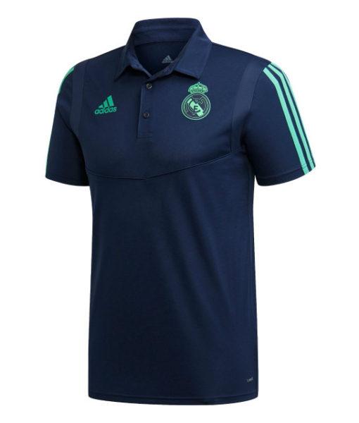 adidas レアルマドリード 2019/20 UEFA CL トレーニング ポロシャツ Navy 1
