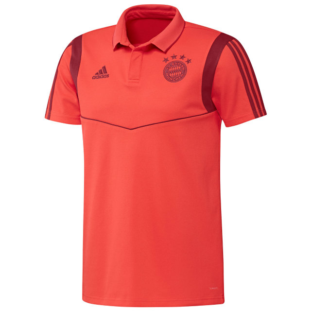 adidas バイエルン ミュンヘン 2019/20 トレーニング ポロシャツ Red