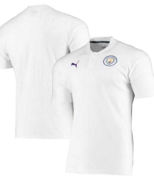 PUMA マンチェスターシティ 2019/20 カジュアル ポロシャツ White 1
