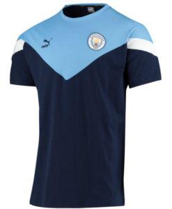 PUMA マンチェスターシティ 2019/20 クラシック Tシャツ Navy