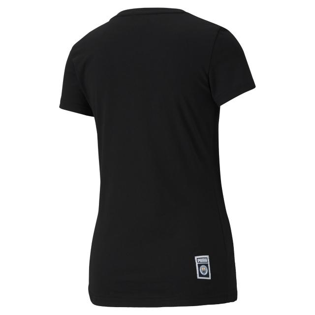 PUMA マンチェスターシティ 2020/21 フットボール ロゴ Tシャツ Black