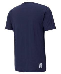 PUMA マンチェスターシティ 2020/21 フットボール ロゴ Tシャツ Navy