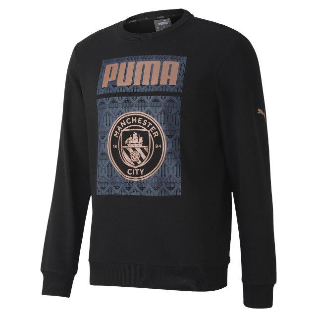 PUMA マンチェスターシティ 2020/21 フットボール グラフィック スウェット トップ Black