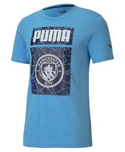 PUMA マンチェスターシティ 2020/21 フットボール グラフィック Tシャツ Blue