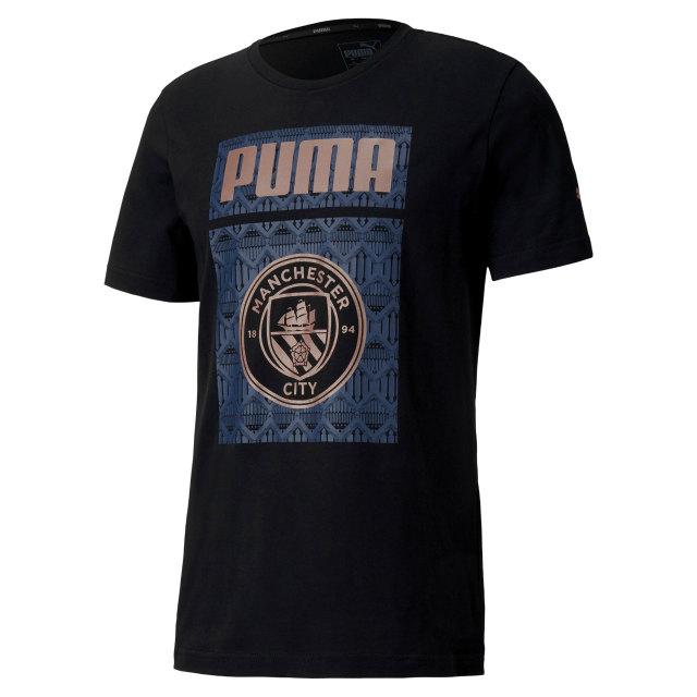 PUMA マンチェスターシティ 2020/21 フットボール グラフィック Tシャツ Black