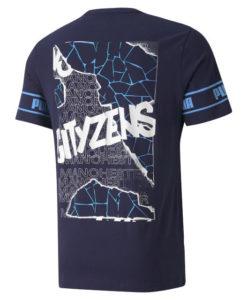 PUMA マンチェスターシティ 2020/21 フットボール Tシャツ Navy