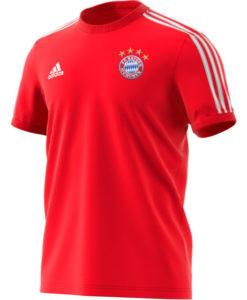 adidas バイエルン ミュンヘン 2020/21 3ストライプ Tシャツ Red